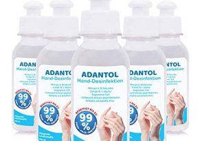 ADANTOL Hände Desinfektionsmittel 100 & 170 ml (antivirales und -bakterielles Mittel mit 76% Alkohol, handliche Flasche im praktischen Vorteilspack) 5er, 10er, 20er (100ml, 5er Pack)