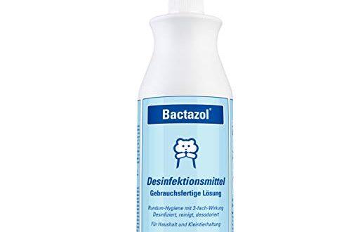 Bactazol Desinfektionsmittel 500ml Schutz vor Viren Bakterien Pilzen 500x330 - Bactazol Desinfektionsmittel 500ml - Schutz vor Viren, Bakterien & Pilzen - Enthält Isopropanol (2-Propanol) - Rundum-Hygiene für Mensch, Haushalt & Tierumgebung - Zur Handdesinfektion geeignet