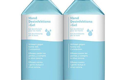 Handdesinfektion 2x 500ml I Trocknet Hände nicht aus I Desinfektionsmittel antivirale Desinfektion Schnelleinziehendes Viruzid Handgel I Hygienische Reinigung I Handreiniger ohne Wasser für unterwegs