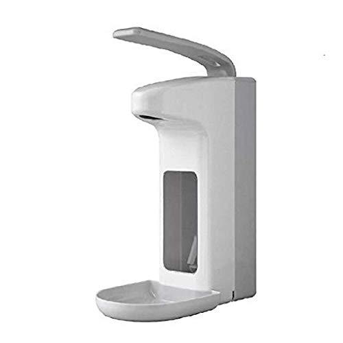 Riou Eurospender 500 ml Desinfektionsspender mit Tropfschale Automatisch Sensor Infrarot No Touch Wandmontage Seifenspender Desinfektionsmittel Spender (Weiß, 500 ML)