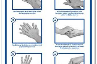 2x Aufkleber Haende richtig desinfizieren gemaess CEN EN 1500 310x205 - 2x Aufkleber Hände richtig desinfizieren | gemäß CEN EN 1500 | 200 x 300 mm Folie selbstklebend | Anleitung Händedesinfektion Hände waschen | Hygiene Desinfektion | Handdesinfektion Händewaschen | LEMAX®